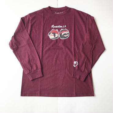 【ラス1】Modestion LA CHEECH & CHONG L/S tee バーガンディー XXL