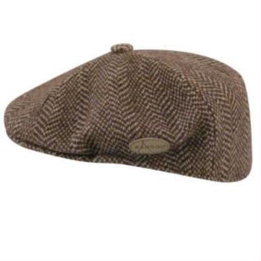 KANGOL Wool Herringbone 504 ブラウン L