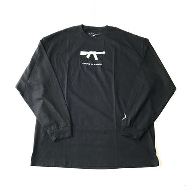 Modestion LA on a misson L/S tee ブラック XXL