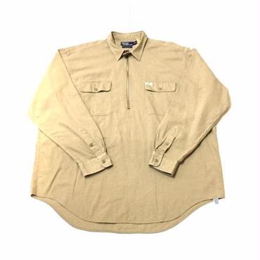 【USED】POLO RALPH LAUREN zip pullover shirt ベージュ XXL