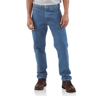 【ラス1】Carhartt RELAXED-FIT TAPERED-LEG JEAN ストーンウォッシュ 32