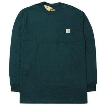 【ラス1】Carhartt WORKWEAR POCKET L/S tee ハンターグリーン XL