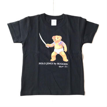 【KIDS】RUGGED POLO JINGI tee ブラック