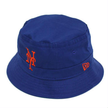 【ラス1】NEW ERA NEW YORK METS bucket hat ブルー×オレンジ S/M