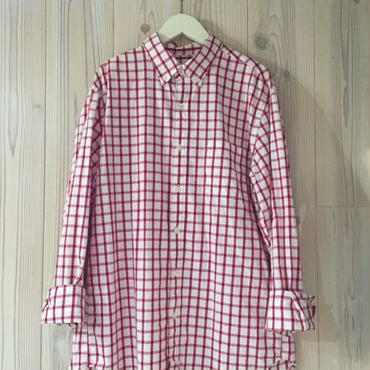 【SALE】J.CREW PLAID shirt レッド M