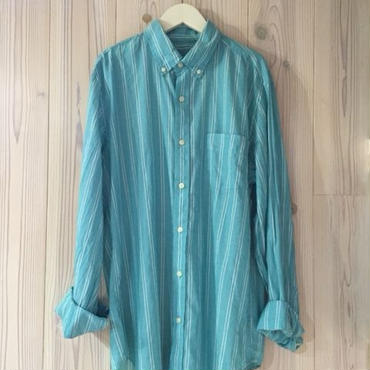 【SALE】J.CREW LIGHT WEIGHT CHAMBRAY shirt エメラルド M