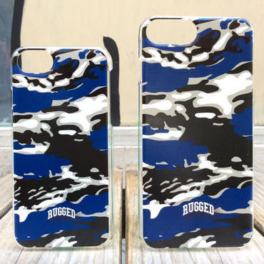 RUGGED SMOKIN TIGER iPhone case ブルー