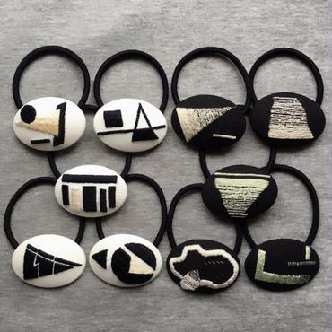 刺繍◉ ジオメトリック ヘアゴム