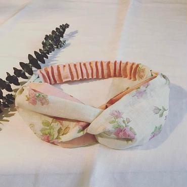 リネンRose&butterfly ターバン