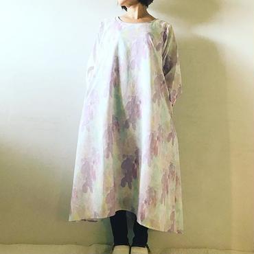 【予約商品】ロチャbotanical ラウンドワンピース 裏地ヘンプ