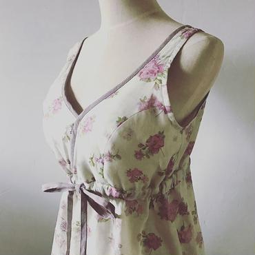 リネン Rose&butterflyブラキャミソール
