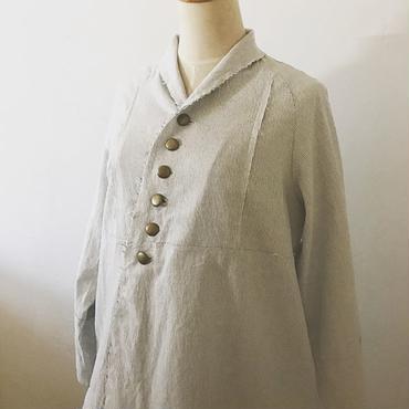 Lintu Laulu ストライプシャツジャケット