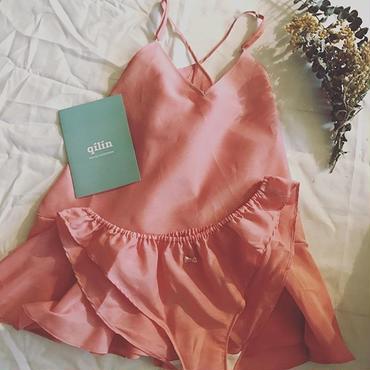 【セット割引】シルクコットンフレアキャミソール&ふわりショーツ pink