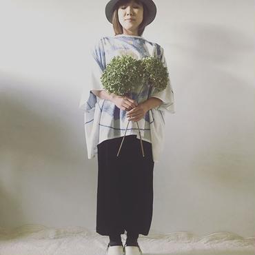 【Lintu Laulu】裾リブニットサルエルパンツ