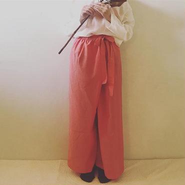 【初回割引】シルクコットン タイパンツ  Pink.White.Black