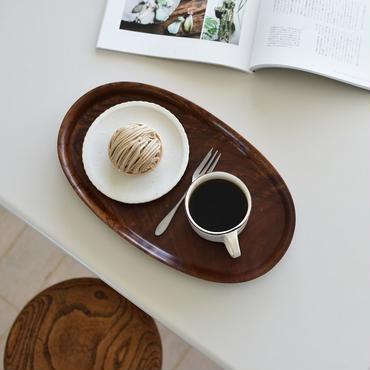 古道具部 時をかけてきた木のおぼん⑥ ケヤキのオーバル盆(楕円型)