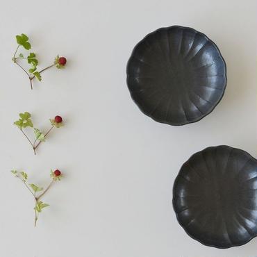 たくまポタリー ハナ 4.5寸深皿 こげ茶
