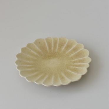 たくまポタリー ハナ 5寸皿 はちみつ