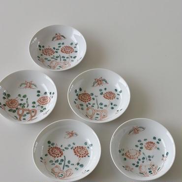 古道具部 九谷焼 絵付小鉢 5枚セット