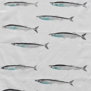アケモドロ 型染め手ぬぐい 秋刀魚