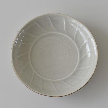 たくまポタリー 風 7寸深皿 やわグレー