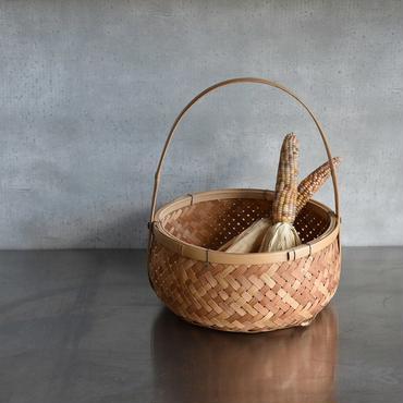 古道具部 持ち手つき竹丸かご