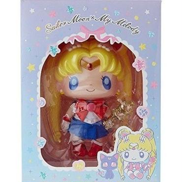[NEW] SANRIO Japan SailorMoon My Melody Collaboration Doll & Gold Wand Necklace