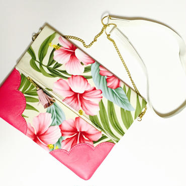 Tropical Hibiscus Chain Clutch