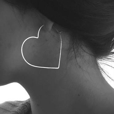 HEART HOOP Large : Stealing Silver