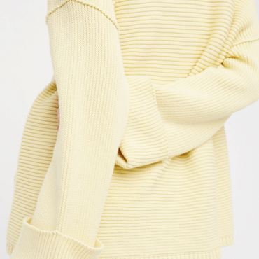 Over Size V neck Sweater / Lemon