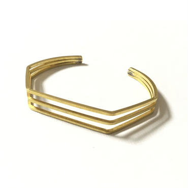 RawBrass 3line Bangle