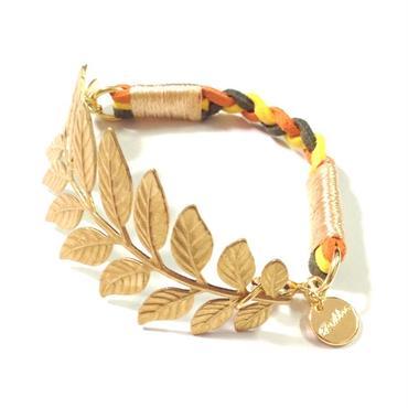 Brass leaf bracelet / Mix 3