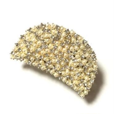 Semi-Round Pearl & Bijou Claw