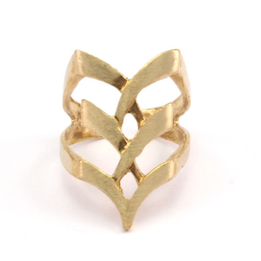 Raw Brass Adjustable Ring  / Boho