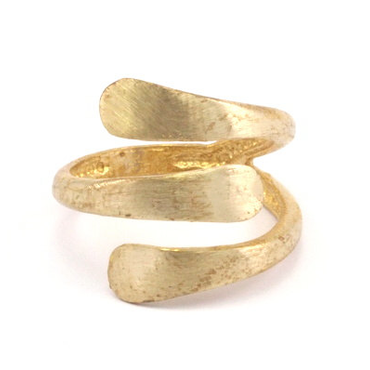 Raw Brass Adjustable Ring / 3LINE