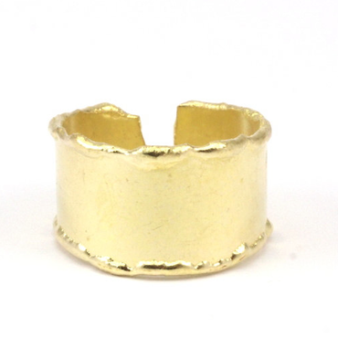 Raw Brass Adjustable Ring  / Simple