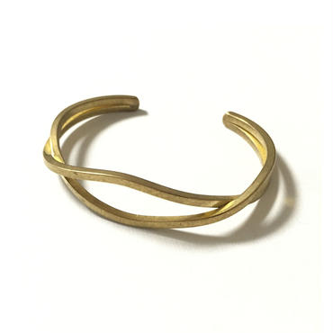 RawBrass 2line Bangle