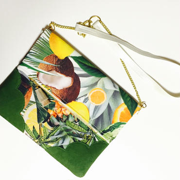 Tropical Fruits Chain Clutch