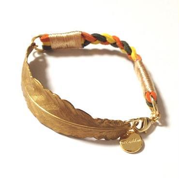 Brass feather bracelet / Mix 3