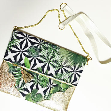Tropical Leaf Chain Clutch/Optical