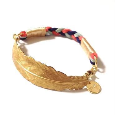 Brass feather bracelet / Mix 2