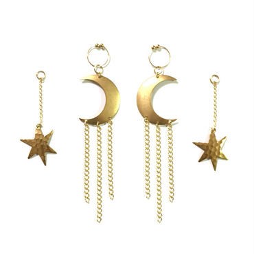 StarLight MoonLight Earring Jacket:Gold 【装苑8月号掲載商品】