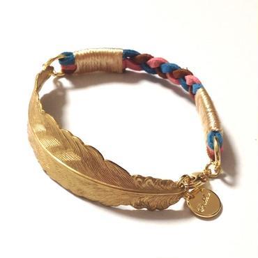 Brass feather bracelet / Mix 1