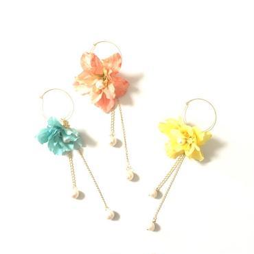 Flower & Fresh water Pearl EarJacket
