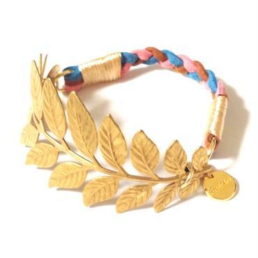 Brass leaf bracelet / Mix 1【VERY11月号掲載商品】