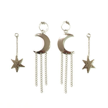 StarLight MoonLight Earring Jacket:Silver