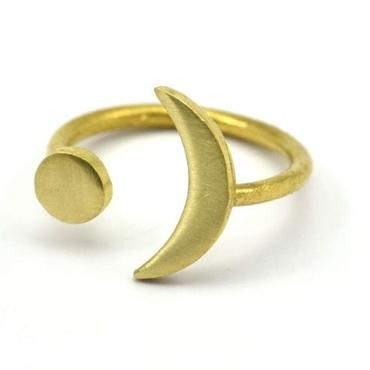 Raw Brass Adjustable Ring  / Cosmos