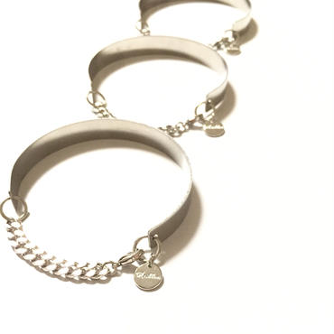 Simple chain Bangle : Silver