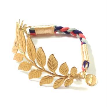 Brass leaf bracelet / Mix 2