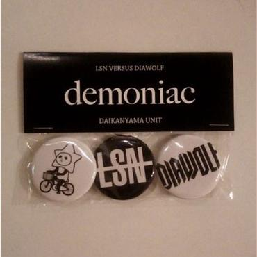 LSN VS DIAWOLF「demoniac」バッジセット